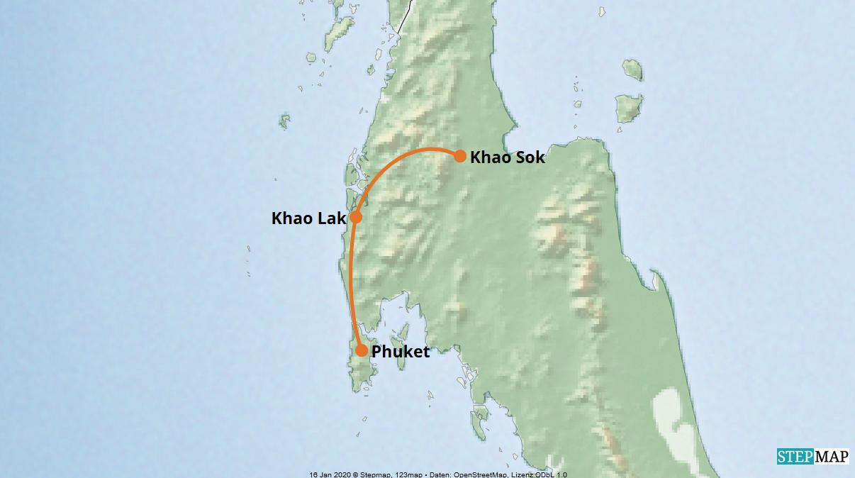 Karte der Reise: Privatreise